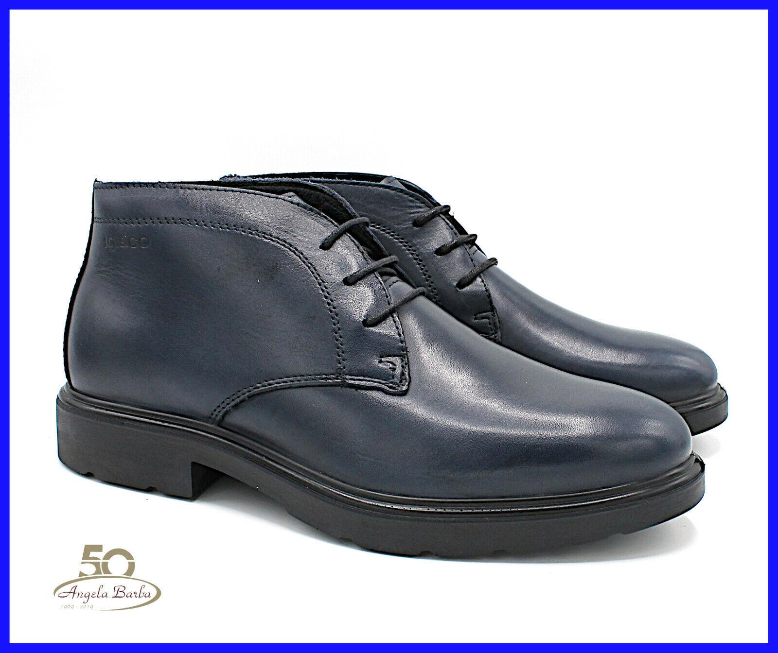 Igi & Co & Herrenschuhe aus Echtem Leder Stiefeletten Hoch Elegant 42 4