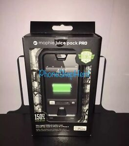 New-Mophie-juice-pack-PRO-Battery-Case-iPhone-4s-4-2500mAh-Black-Sealed