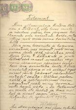 ESTONIA OLD DOCUMENT WITH REVENUE STAMPS 898