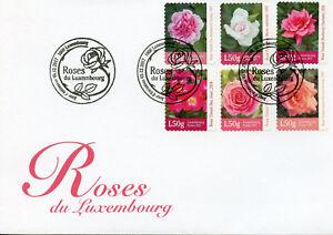 Luxembourg-2017-FDC-Roses-Rosa-6-V-S-Un-ensemble-housse-fleurs-timbres