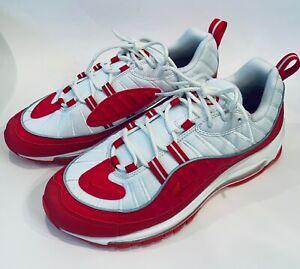 Men's Nike Air Max 98 University RedSummit WhiteUniversity Red Shoes