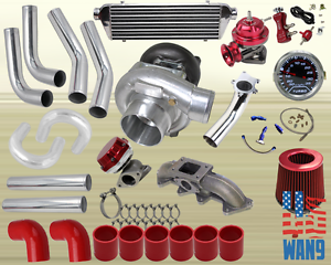 Details about 94-02 Accord/Acura Cl T3/T4 Turbocharger Turbo Kit  Red+Manifold+Bov+Wg+Gauge