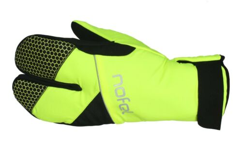 Yellow Winter Cycling Lobster Gloves Black