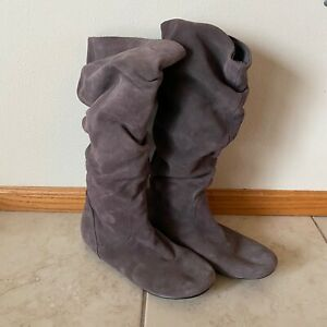 Pico subtítulo adiós  Size 10 Women's Steve Madden Tianna Gray Taupe Suede Leather Slouch Boots |  eBay