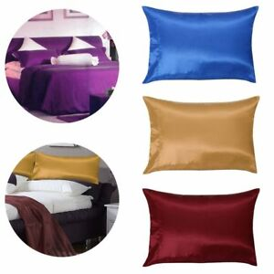 2-X-SILK-PILLOW-CASE-BLEND-HOUSEWIFE-PAIR-PACK-BEDROOM-PILLOW-COVER