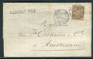 Lettre Sans Texte De Paris Pour Amsterdam En 1877 - Réf M116