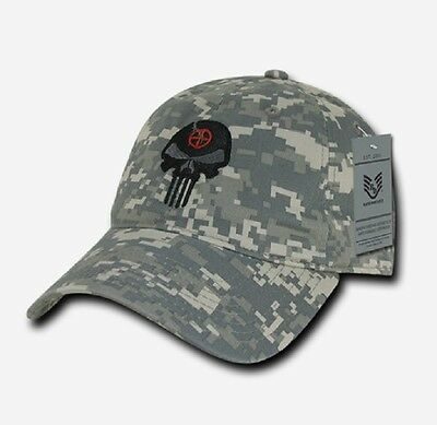 Us Rapdom Punisher Craft Skull Relaxed Graphic Cap Mütze Acu Digital Camouflage