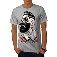 Skull Hipster Beard Men T-shirt S-5XL NEW | Wellcoda