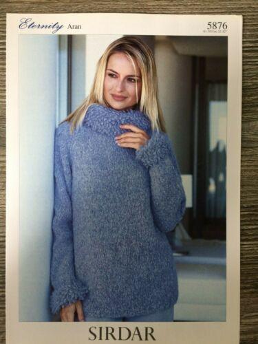 """Aran Sirdar Knitting Pattern: Ladies Sweater 5876 32-42/"""""""