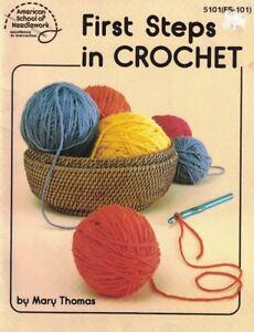 First-Steps-in-Crochet-American-School-of-Needlework-5101-FS-101-Booklet