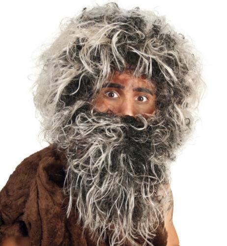 Neandertaler Set Perücke mit Bart Urmensch