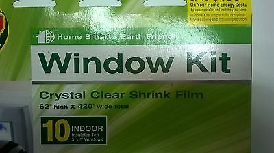 "window film kit, Duck,covers 10, 3x5 windows,energy saving,indoor,62""x420"""