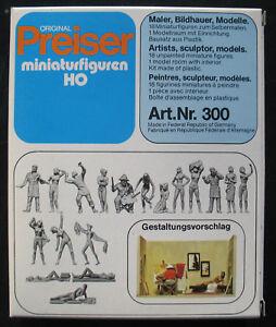 Preiser-H0-300-Maler-Bildhauer-Modelle-18-Figuren-Modellraum-1-87