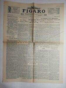 N811 La Une Du Journal Le Figaro 7 mai 1931 réunion du cirque d'hiver