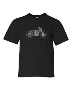 Details about Therapy Garage Custom Motorcycles XS650 Scrambler Tee Shirt