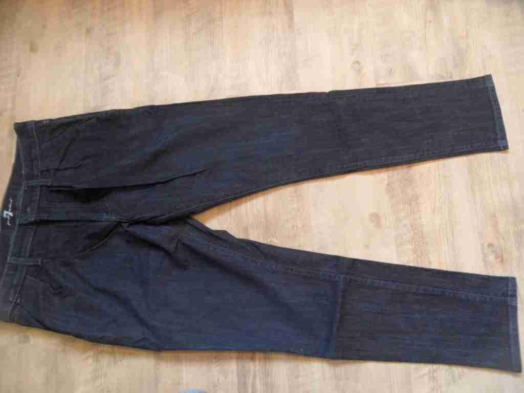 SEVEN FOR ALL MANKIND dunkle slim fit Jeans m. Bundfalten Gr. 31 NEUw. KoS517 | Verschiedene Waren
