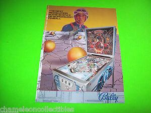 EMBRYON-By-Bally-1981-Original-PINBALL-MACHINE-Prome-Sales-FLYER-w-EDGE-WEAR