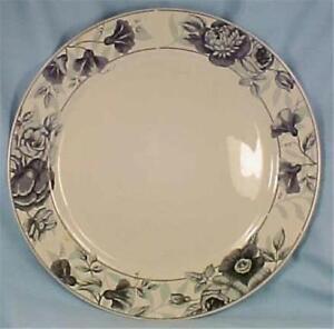 Oneida-Rose-Song-Dinner-Plate-Majesticware-Black-Gray