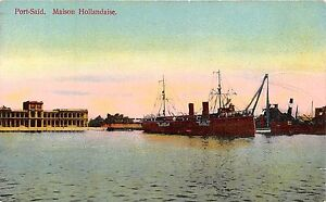 POSTCARD-EGYPT-PORT-SAID-Dutch-House