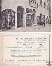 # ASSISI: NEGOZIO d'ARTE U. ROSSI - vetrina foto Alinari