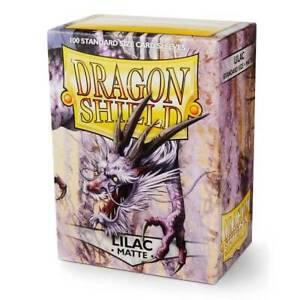 100-Dragon-Shield-Standard-Sized-Sleeves-Lilac-Matte-Lila-Pokemon-Magic