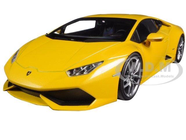 Lamborghini Huracan lp610-4 amarillo 1 18 Diecast Model Car By Kyosho 09511 yo