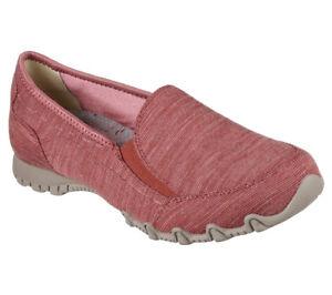 New lounger Skechers Foam Sneakers Women Slipper Bikers Loafer Memory Pink Dusky qrdq8WO