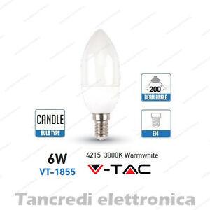 Lampadina-led-V-TAC-6W-40W-E14-bianco-caldo-3000K-VT-1855-a-candela-SMD-VTAC
