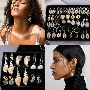 Women-Boho-Natural-Pearl-Shell-Conch-Earrings-Pendant-Statement-Drop-Dangle-Gift