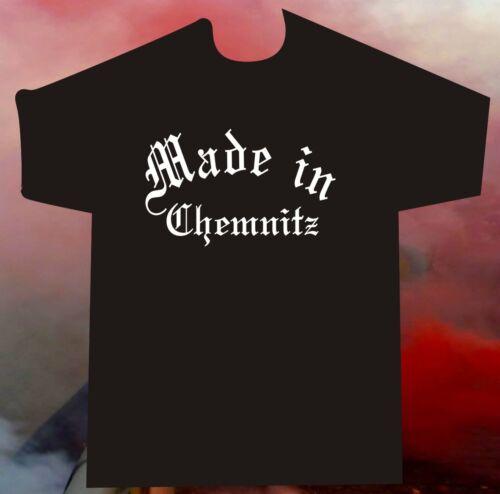 T-shirt made in Chemnitz pour hooligans ultras fan fussballfans Allemagne Orientale