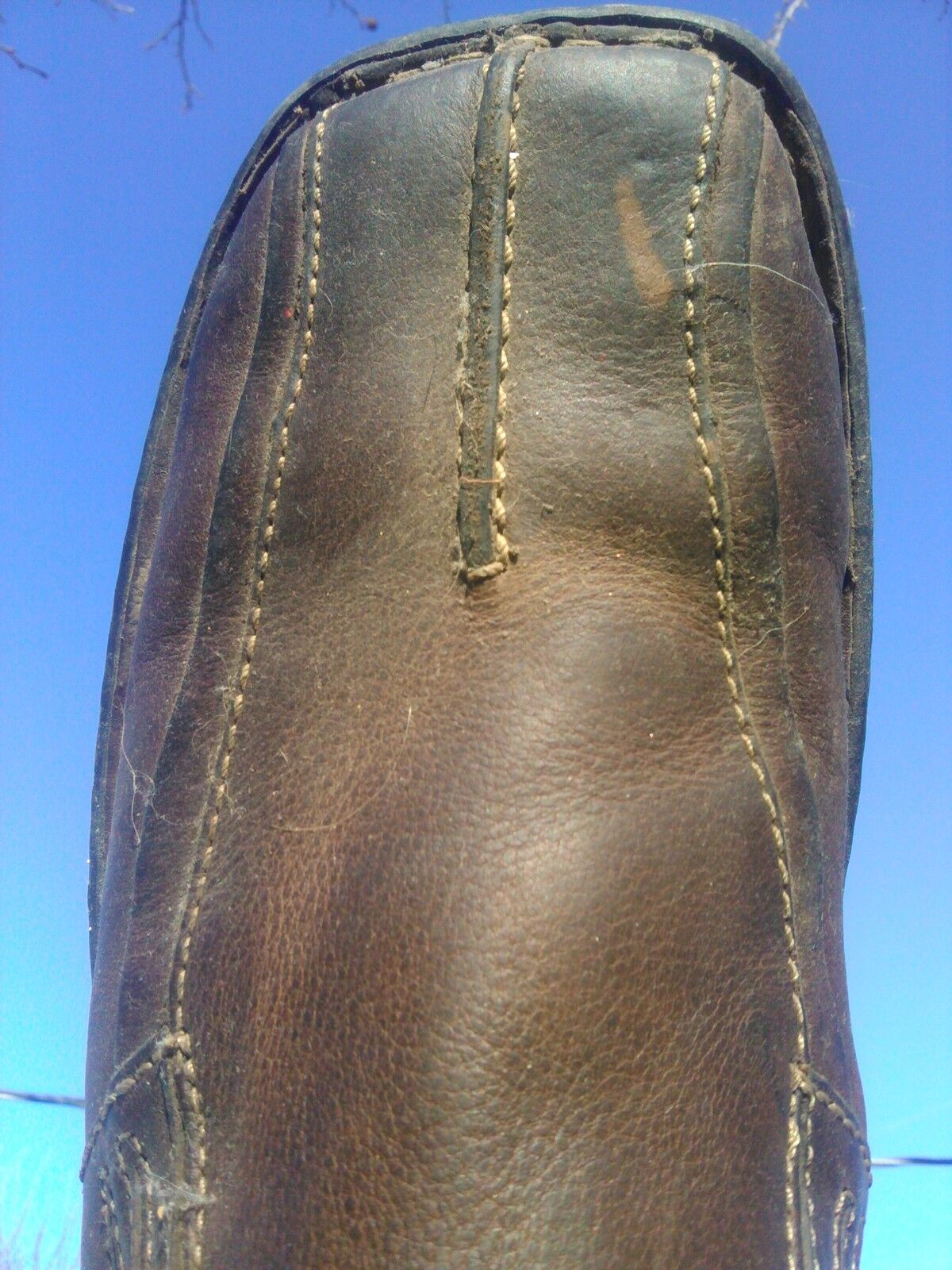 USed Mens Brown Size 11M Arizona Slip on shoes Leather Upper