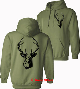 DEER-Stag-hunting-shooting-stalking-hoodies-birthday-Xmas-HOODIES-S-XXL
