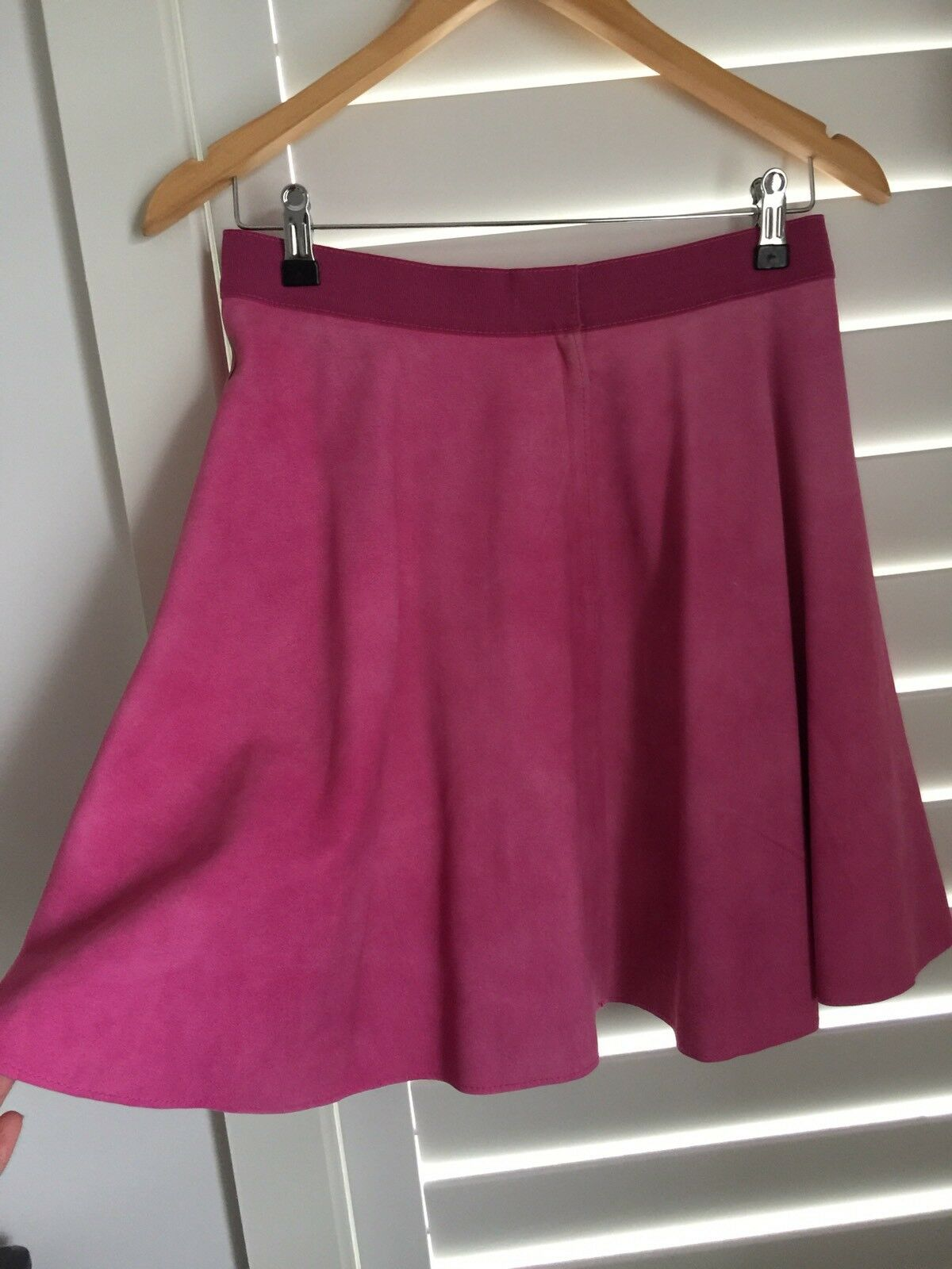 3.1 Phillip Lim Pink Suede Leather Skirt