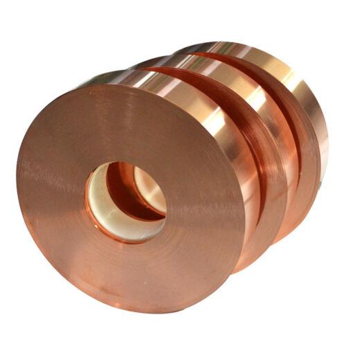 1pcs 0.1 x 20 x 1000mm 99.9/% Pure Copper T2 Cu Metal Sheet Foil Plate Strip