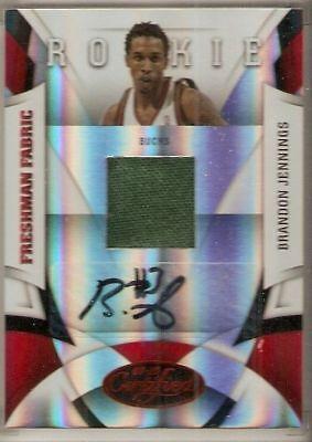 Sports Trading Cards 100% True 2009-10 Certified Brandon Jennings Jersey Autograph Rookie Serial #12/100 Bucks Basketball Cards
