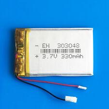 3.7V 330mAh Lipo Battery for MP3 DVD GPS Headphone Bluetooth Selfie stick 303048