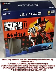 PlayStation-4-Pro-Red-Dead-Redemption-Bundle-Box-ONLY-No-Console-or-Controller