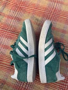 Details about Adidas Originals Unisex Gazelle Sneaker WhiteNoble Green US Little Kid Sz 12.5