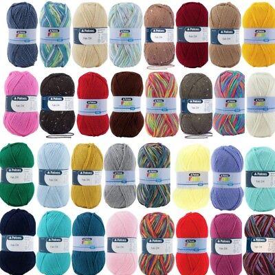 Patons Yarn Ocean Blue Fab DK Yarn 100g Ball