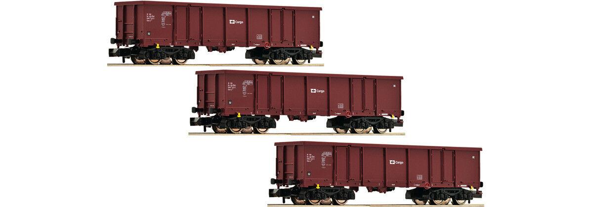Fleischmann 828343, 828343, 828343, 3tlg. Set offene Güterwagen, CD Cargo, Neu und OVP, N  | Bekannt für seine schöne Qualität  c023d9
