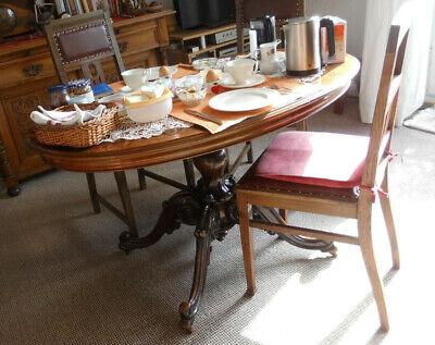 Tisch Antik Oval Speisetisch Salontisch Eßtisch Stilmöbel Empfangstisch