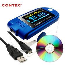 CMS50D + Finger Pulse Oximeter Blood Oxygen SPO2 monitor con il software gratuito / USB