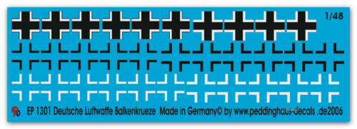 1//48 Balkenkreuze deutsche Luftwaffe 1301