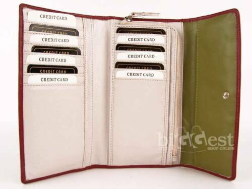 New Ladies Soft Leather Purse//Wallet in 3 Designer Colours Dominique Top Quality