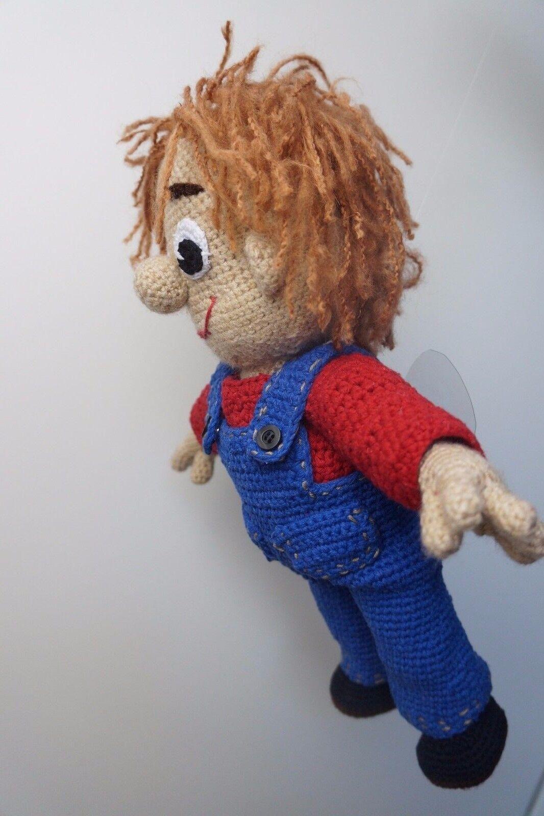 Puppe Karlsson Amigurumi Handarbeit gehäkelt Deko Deko Deko Geschenk UNIKAT 641327