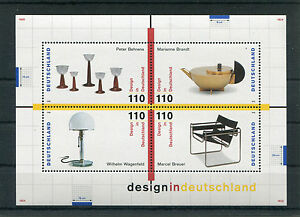 Bund-Block-45-sauber-postfrisch-BRD-2001-2004-Design-in-Deutschland-1998-MNH
