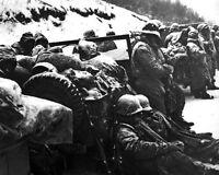 8x10 Korean War Photo: Marines Of The 5th & 7th Regiments Receive Bad News