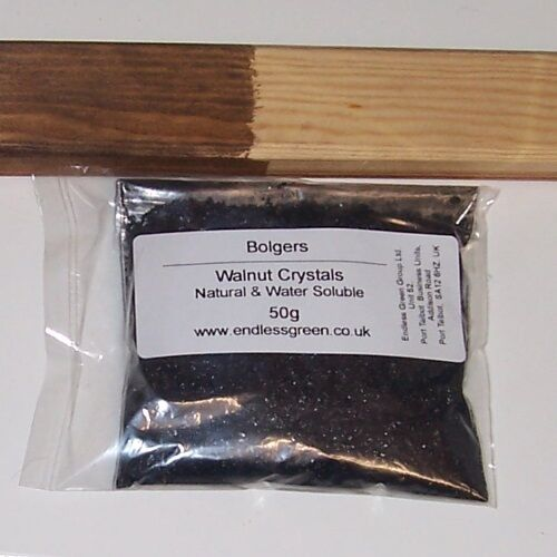Mix With Water Walnut Crystals Makes Non Toxic /& Odourless Brown Wood Dye