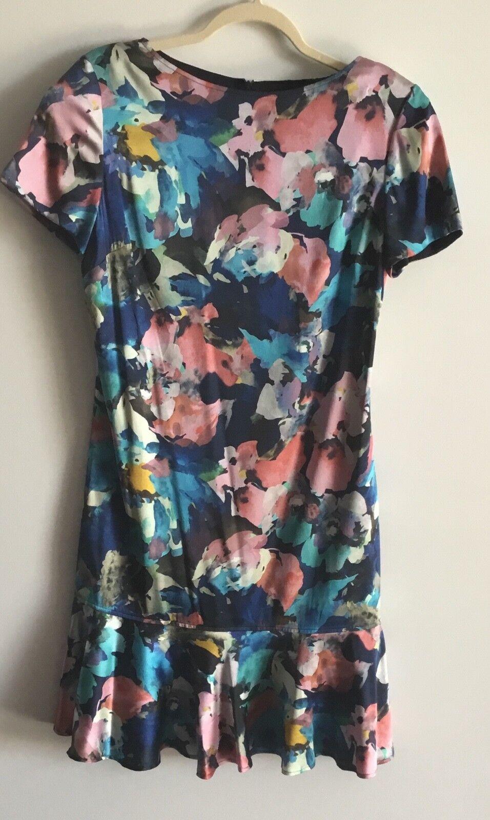 Femme Nouveau St. John Taille 8 soie motif floral robe Retail  995