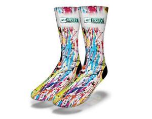 Neuf-Adulte-Junior-Savvy-Sox-X-Art-Society-Energie-Barre-Peinture-Socks-Limite
